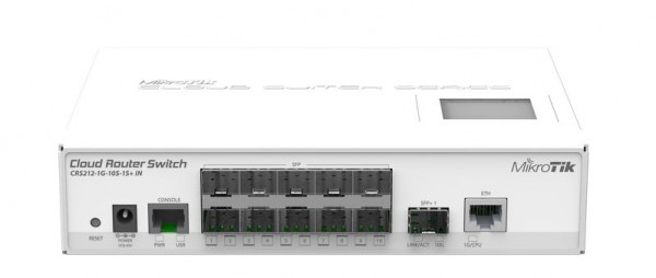MikroTik Cloud Router Switch CRS212-1G-10S-1S+IN, 10x SFP, 1x Gigabit