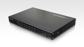 Aten KVM-Switch 16-fach, VGA,PS/2, LAN(IP-fähig)