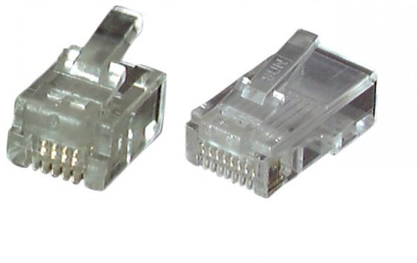TP-Stecker TP, ungeschirmt, RJ-45, 100-Pack, für Rundkabel