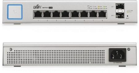 Ubiquiti UniFi Switch, 8 Gigabit RJ45 Ports, 2 SFP Ports, Po