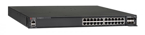 Ruckus Networks ICX 7450 Switch 24-port 1 GbE switch, 3 modular slots for optional uplinks/stacking