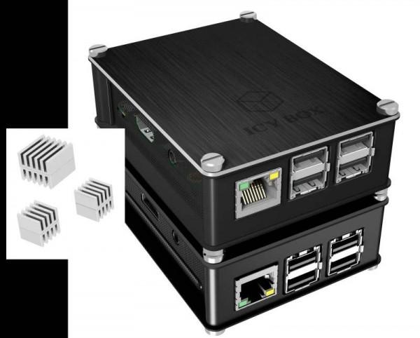 Raspberry Pi ICY Box Gehäuse, Schutzgehäuse für Raspberry Pi 2 und 3, IB-RP102