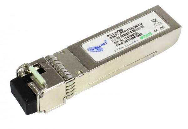 ALLNET Switch Modul ALL4763 SFP+(Mini-GBIC), 10Gbit, B(Bidi)A/LC, Tx1270nm/Rx1330nm, 9u, 20Km,