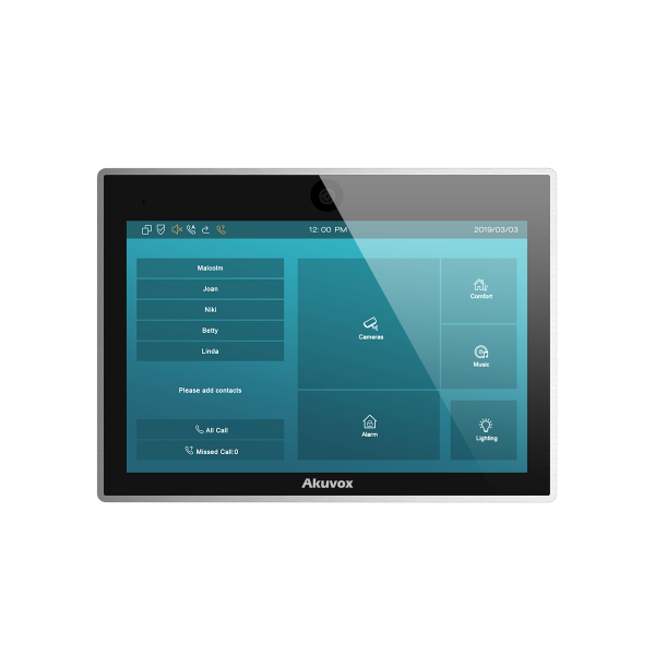 Akuvox TFE zbh. IT83CR Indoor Touch Screen with Camera