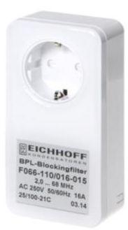 ALLNET Powerline Sperr-Filter 2-68Mhz 16 A Schutzkontakt-Durchgangsgehäuse