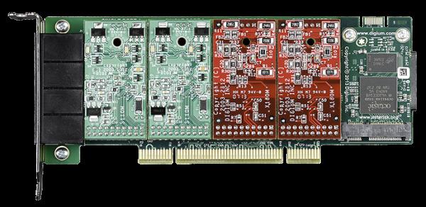 Digium PCI 4-Port A4A Karte