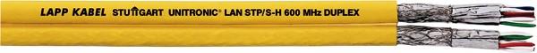 LAPP Kabel 1000MHz, CAT7, PIMF-D, Halo, 100m Ring, Gelb, Verlegekabel, Duplex, Unitronic