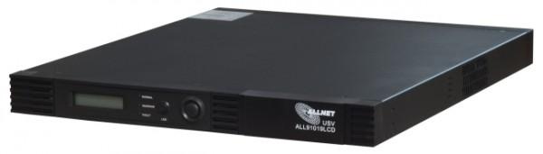 """ALLNET ALL91019LCD / USV 1000VA LineInteraktiv, 19"""" 1HE, 3 min. Standby, MTD1000RM"""