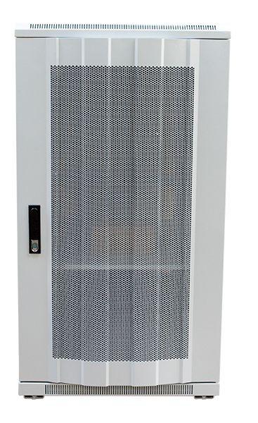 """ALLNET 19""""Schrank, 22HE, B600/T1000mm, perforierte Blechtüren, Lichtgrau, SNB-Serie,"""