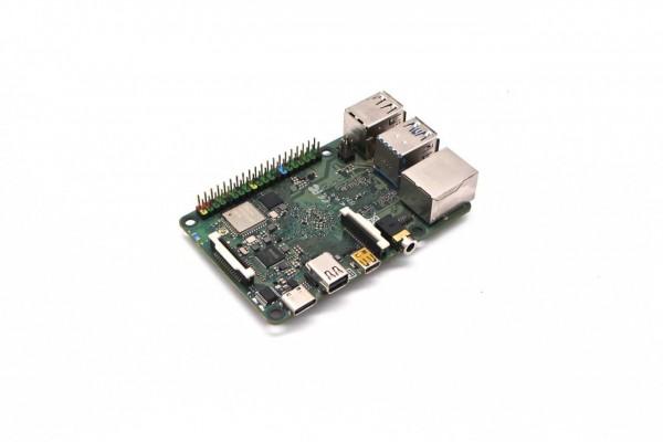 Rock Pi 4 Model C 4GB (mit Dualband 2,4/5GHz WLAN/Bluetooth 5.0) MicroHDMI und Mini DP, ext. Antenne