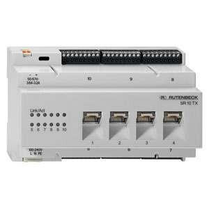 Rutenbeck Switch für REG/DIN-Montage, 10x 10/100/1000M(4x RJ45), SR 10TX GB