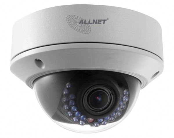 "ALLNET IP Kamera Fix Dome / Outdoor / 2MP / IR / Vandalismus / Motorisiertes Vario-Objektiv / 113° / ""ALL-CAM2395-LVEF"""