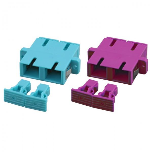 LWL-Kupplung, SC-Buchse/SC-Buchse, 50/125u Multimode, duplex, PVC, OM3, Aqua,