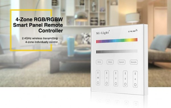 Synergy 21 LED Fernbedienung Smart Panel RGB/RGB-W 4 Zonen *Milight/Miboxer*