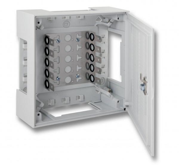 LSA+ TK Verteilerkasten, Box II, für 50DA, Montagewanne, mit Schloss,