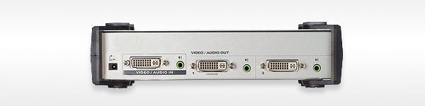 Aten Video Splitter,DVI/Audio, 1xInput,2xOutput
