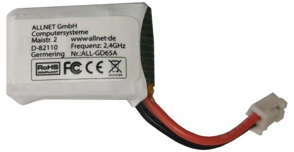 ALLNET Mini Drohne zbh. Zusatzakku Batterie 3,7V 220mAh Li-ion