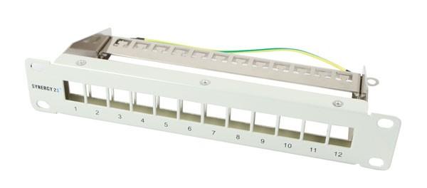 "Keystone, Modulträger, 10""Patchpanel für 12xTP-Modul, 1HE, Lichtgrau, Synergy 21,"