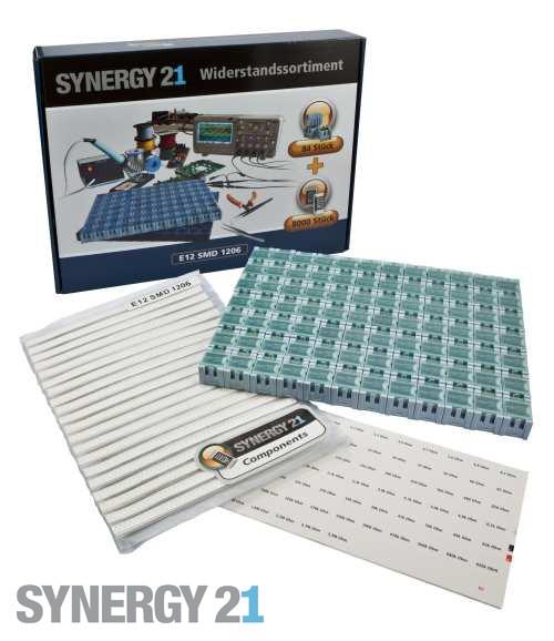Synergy 21 Widerstandssortiment E12 SMD 1206 1% SET