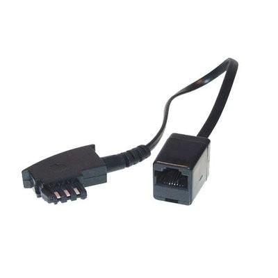 Kabel TK TAE-Adapter, TAE-F-Stecker/RJ45-Buchse, mit 20cm Kabel