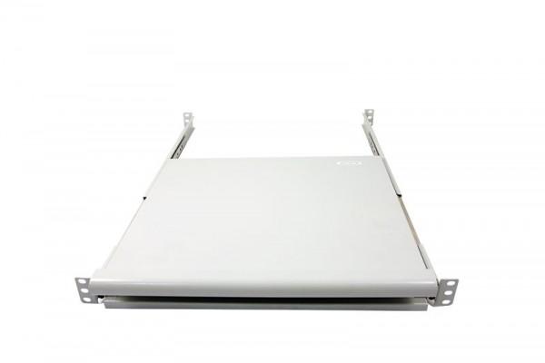 """ALLNET 19""""zbh. Tastaturboden ausziehbar, für 800mm Schrank tiefe, Lichtgrau, t550-650mm,"""