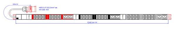 "ALLNET 19""zbh. Steckdosenleiste,24xKaltgeräte(C13)+6xC19->Stecker(CEE 16A), Bachmann"