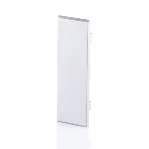 BILTON Profil zub ENDCAP für YT06 + Cover flach ALU L6,5xB18,5xH55mm EB-Maß 2,5mm ohne Bohrung