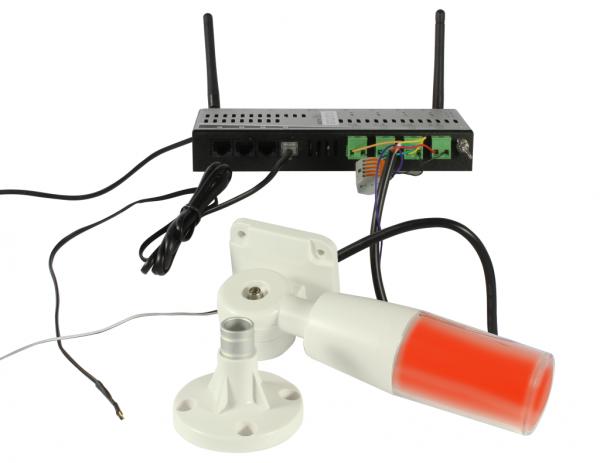ALLNET MSR zbh. Signal/Warnlampe, Rot/Gelb/Grün/Buzzer einzeln ansteuerbar