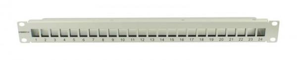 "Keystone, Modulträger, 19""Patchpanel für 24xTP-Modul, 1HE(t 91mm), Lichtgrau, Synergy 21,"