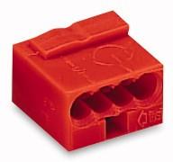 Wago Serie 243- 4-Leiter-Micro-Klemme (100 Stück) rot