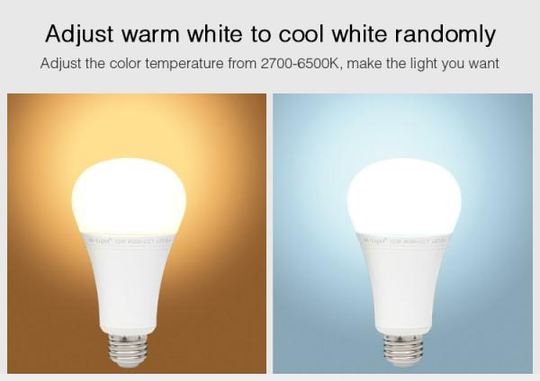 Synergy 21 LED Retrofit E27 12W RGB-WW Lampe mit Funk und WLAN *Milight/Miboxer*
