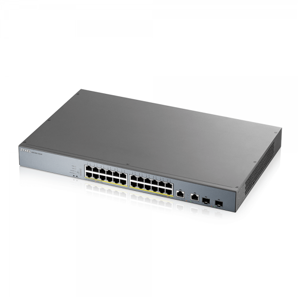 ZyXEL Switch Gigabit 26 Port managed CCTV PoE Switch, long range, 375W GS1350-26HP