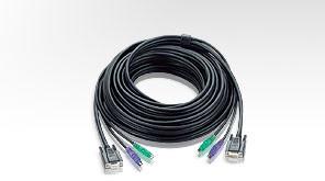 Aten Verbindungskabel HDB-15(St/Bu),PS/2(St/Bu),10mtr.,