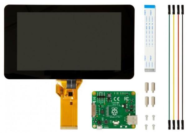 """Raspberry Pi Zubehör - Display 7"""" Touch 800x480 Pixel DSI Port"""