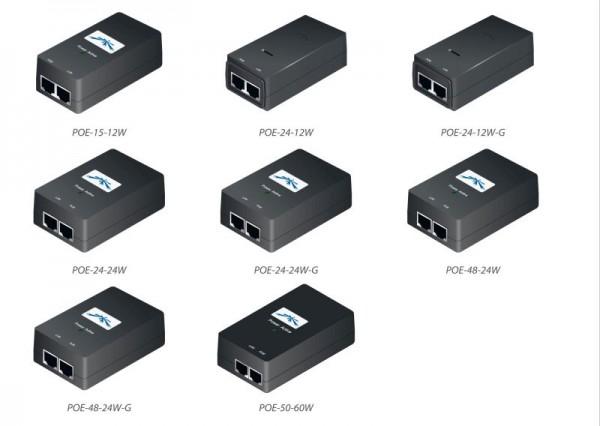 Ubiquiti POE Injector, 24VDC, 12W, Gigabit Port