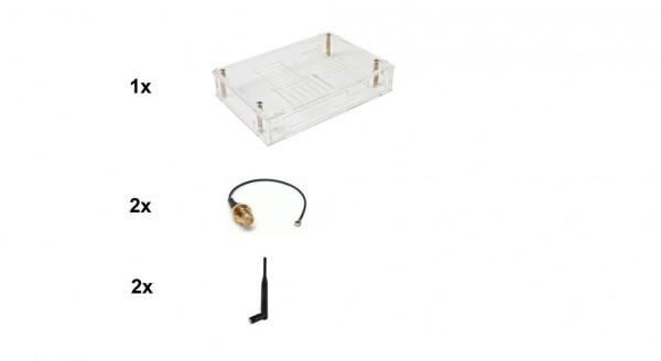 banana pi Router board zbh. Gehäuse Bundle: Gehäuse/Pigtail + Antennen