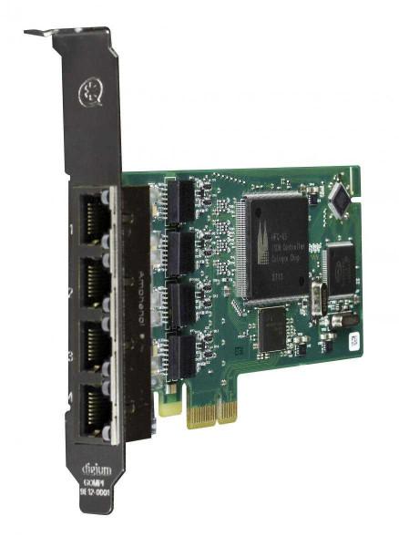 Digium PCIe 4-Port S0 Karte Quad Span BRI card + EC (B433)
