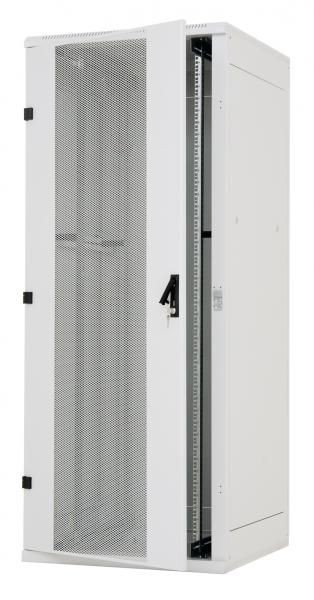 """Triton 19""""Schrank 22HE, B600/T 800, Lichtgrau, perforierte Front-/Rücktür,"""