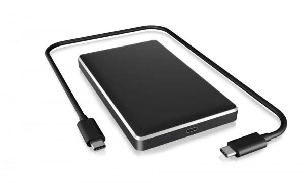 "ICY Box Gehäuse, ext.SATA 2,5""/USB 3.1 Type-C Gen 2 , schwarz, IB-245-C31-B,"