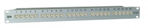 "Patch Panel 25xTP,CAT3,ISDN,19"",Lichtgrau,BTR"