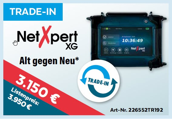 softing(Psiber) NetXpert XG, *TRADE-IN*, Promo bis 15.1.2020, Mess-Menü, Trade-In
