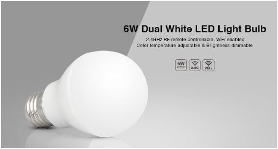 Synergy 21 LED Retrofit E27 6W dual white (CCT) Lampe mit Funk Milight/Miboxer*