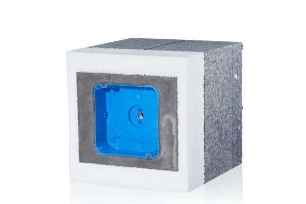 f-tronic TIE-System mit Abzweigkasten 104x104mm, für 160-200mm Dämmung, EPS20-116