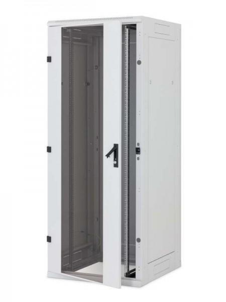 """Triton 19""""Schrank 47HE, B800/T1000, Lichtgrau, Glastür, RYA-Serie, zerlegbar, für Belastung 1200 kg,"""