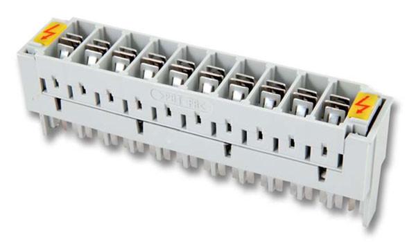 LSA+ TK LSA-Anschlussleiste 2/10, Überspannungsschutzmagazin, 2 Elektrodenableiter 8x6,