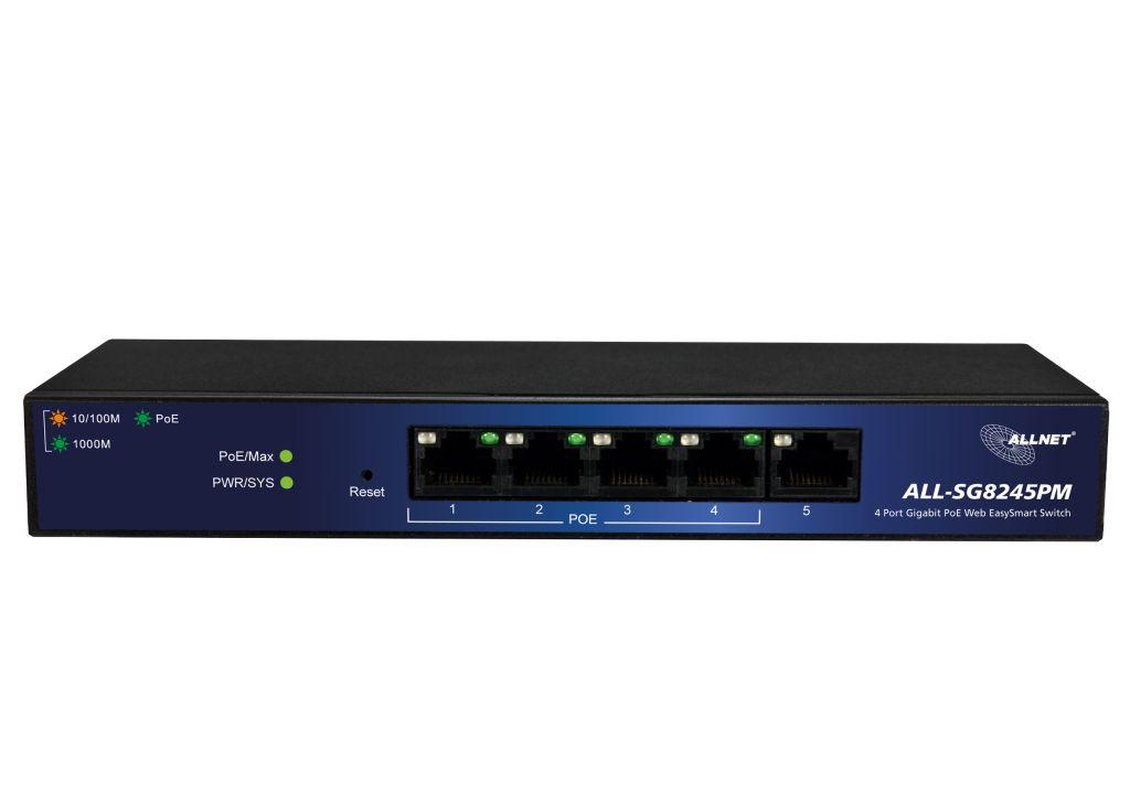 138516 - ALLNET ALL-SG8245PM / managed 5 Port Gigabit Switch, 4x PoE ...