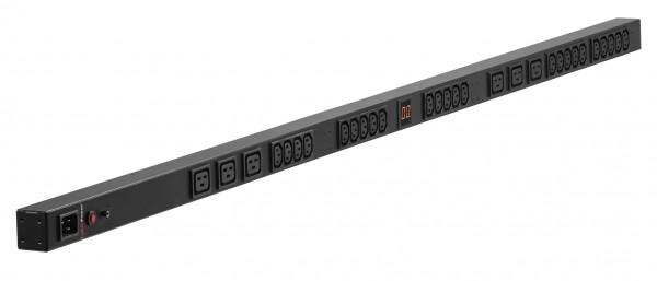 CyberPower PDU, METERED, 230V/16A, 0HE, LCD, 20xC13+4xC19 Ausgang, 1xC20 Eingang,
