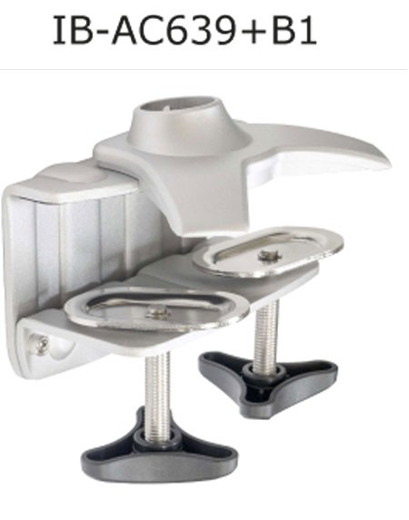 ICY Box Dreifach-Ständer, zbh.Klemmfuß, Silber, IB-AC639B1,