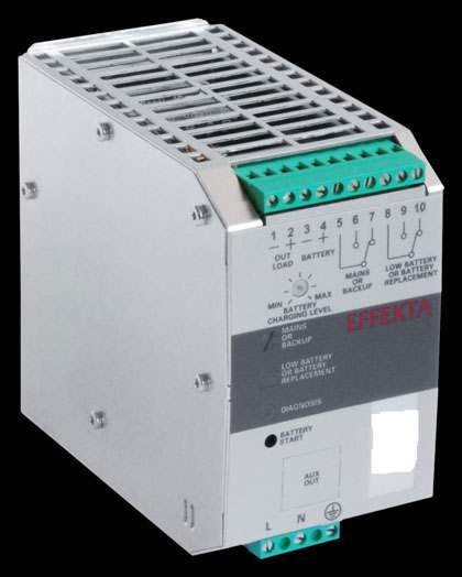 Effekta USV, AC/DC, 12V/ 6A/72W Hutschiene(DIN Rail), ohne Akku, DCH 1206 A
