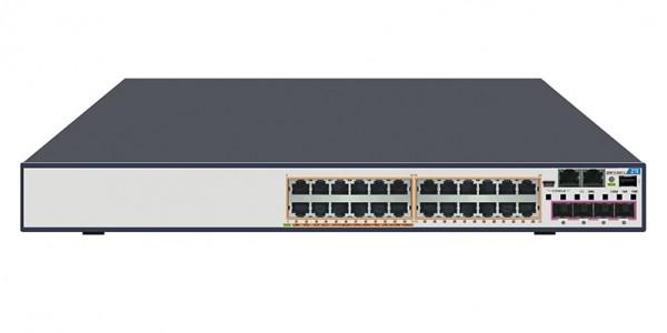 ZTE Switch PoE L3 24x Gigabit RJ45 + 4x Combo 1GB SFP/10GB SFP+ slot, 5950-28PD-L